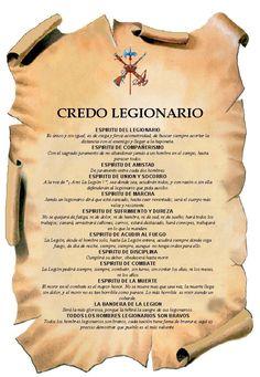 El credo Legionario | Hermandad Antiguos Caballeros Legionarios