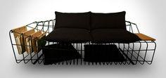 Sofist by Sule Koc Minimalist Sofa with Industrial Twists: Sofist by Sule Koc Design