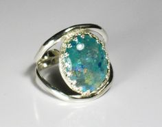 Glow+in+the+dark+dichroic+glass+sterling+by+RadiantOriginals,+$45.00. This is amazing! @Elaina Grum