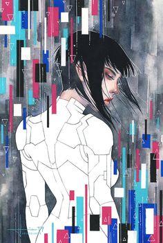 Arte Cyberpunk, Illustrations, Illustration Art, Comic Manga, Ghost In The Shell, Dieselpunk, Game Art, Techno, Art Reference