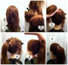 A high ponytail tutorial that doesn't droop.