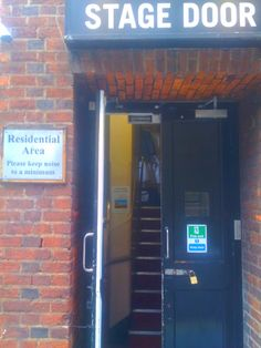The stage door of the Cambridge Theatre where Matilda is playing at the moment - if you look inside you can see one of the Crunchem Hall Primary school uniforms. Charles Boyle, The Stage Door, Jessica Day, Soul On Fire, Back Seat, Character Aesthetic, Theatre Stage, Theater, Matilda