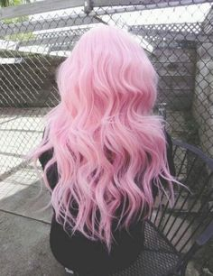 crazy hair color, Such a pretty pink. And if it was Just a little bit lighter. It would be the ideal pink for my hair.