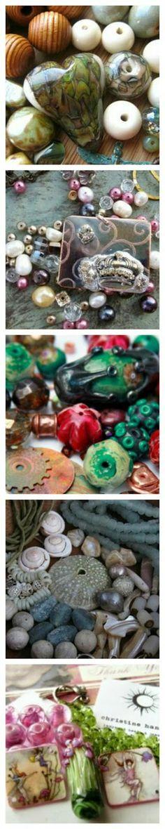 Funky Jewelry, Jewelry Making Beads, Garden Sculpture, Pretty, Outdoor Decor, Soups, Blog, Gems, Jewels