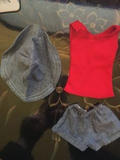 "Candi Doll 18"" Mego Clothing Short Outfit Denim"