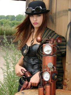 Steampunk Fashion.Compliment your quirky Steampunk style at http://www.designyourownperfume.co.uk with a beautiful custom made perfume - choose from over 70 exciting scents; from the floral and delicate to the hypnotic, the exotic, and the strange and quixotic.