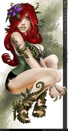 Poison Ivy inspiration.  Love her cool plant heels...maybe diy future.