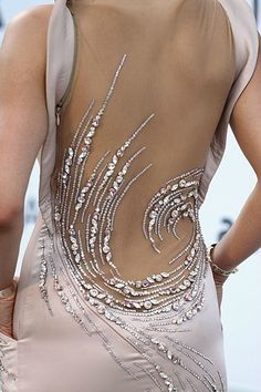 Beautiful swarosky bead dress