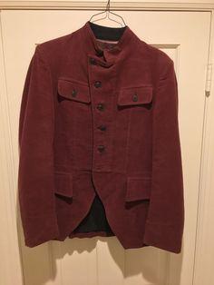 Dries Van Noten Mens Cupro Jacket Dark Brown Maroon Size XL #DriesVanNoten #BasicJacket