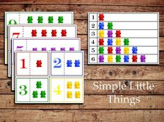Counting Bears Activity - DIY Printables for toddlers, Teaching Materials, Home Schooling, and Early Education on Etsy, $2.27