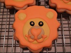 lion sugar cookies by Mercibeaucookies.blogspot.com
