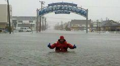 Sea Isle City, NJ  - about 4 hous before landfall.