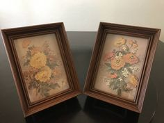 Vintage Flower Shadow Boxes by Robert Laessig/ Floral 3-D Cut Paper Shadow Boxes/Robert Laessig Framed Flowers by BazemoreVault on Etsy