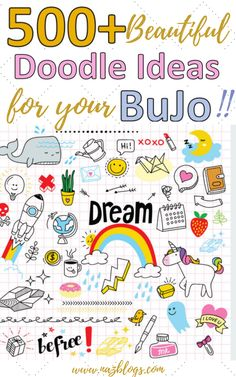 I'm so obsessed with bullet journals that I'm always on the search for some inspiration. This post is all 500+ doodle ideas you can try in your bullet journal. Doodles serve as a creative outlet and relieves stress.