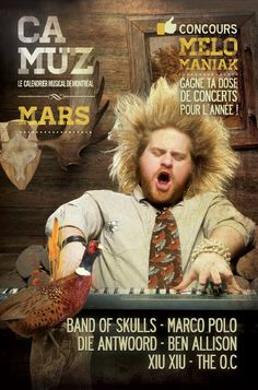 Camuz Montreal - Montreal, music and everything about it Band Of Skulls, Die Antwoord, The Oc, Marco Polo, Concert, Musicals, Magazine, Movies, Movie Posters