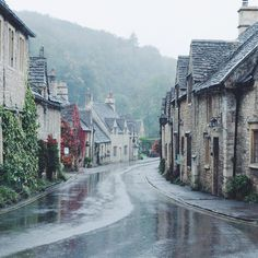 """""""A misty walk though Castle Combe. Is it ever too early (in the year, in the day) for mulled wine?"""""""