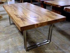mesas de acero inoxidable y maderas finas tabasco