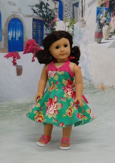 Rockabilly Rose - vintage style dress for American Girl doll