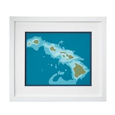 Relive your honeymoon or Big Island getaway with this beautiful representation, made from layers of hand cut paper.