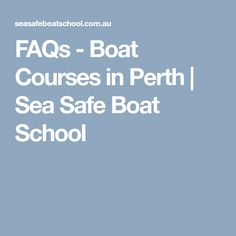 Skippers ticket in perth. Simply the best trainers and facilities in perth. We offer the best courses, trainers, & facilities guaranteed! Boating, Perth, Trainers, Sea, School, Tennis, Ships, The Ocean, Sailing