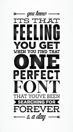 The Right Font