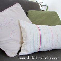 DIY stitched bolster cushion