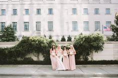 Pink bridesmaid dresses. Fun and unique wedding photos. Nashville wedding photography. Nashville wedding venues. Destination wedding ideas.