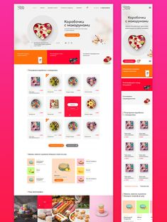 Macaron on Behance Food Web Design, Web Design Websites, Learn Web Design, Best Web Design, App Design, Website Design Layout, Homepage Design, Ecommerce, Restaurant Website Design