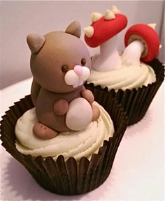 Woodland Baby shower Cupcakes 2014