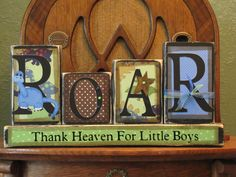 If I only had a boy! Dinosaur Sign - Children's Room Decor. $30.00, via Etsy.