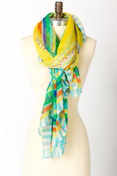 So pretty.  I love summer scarves.