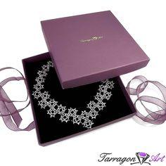 Naszyjnik Beaded Elegance - Silver | Tarragon Art - stylowa biżuteria artystyczna