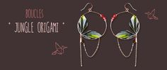 Tuto Boucles d'oreilles Jungle Origami
