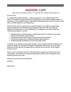 example resume letter