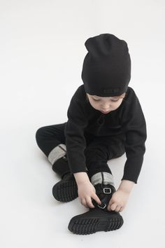 Just Bo sweater & hat Black No.2 and baggy pants Black www.born2bseen.com