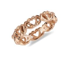 Wedding band in rose gold with hearts...........perfect:)))