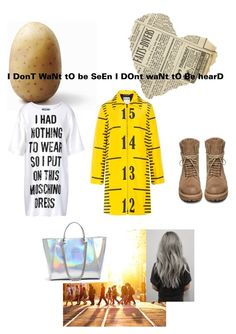 """""""Untitled #86"""" by alicelynch on Polyvore featuring Moschino, Rick Owens and GUESS"""