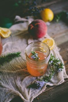 An Edible Flower Workshop: Peach & Rosemary Blossom Lemonade