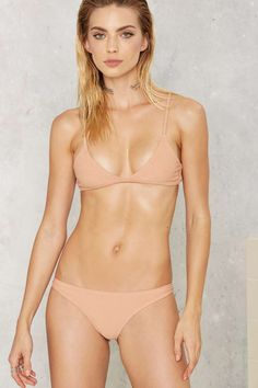 Nasty Gal Alina Mix & Match Bikini Top - Nude - Wet Hot American Swim | The…   Matching top and bottom