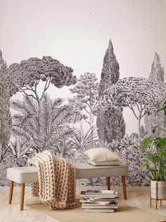 Design Made In France - Exquisite Panoramic Wall Murals For Your Next Interior Renovation Decor, Wallpaper, Mural, Tapestry, Mural Wallpaper, Stunning Wallpapers, New Wallpaper, Grisaille, Wall Design