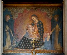 Verona Saint Anastasia Church Madonna and Child enthroned with Saint Augustine and St Thomas Aquinas