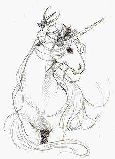 I find unicorns of all shapes, sizes, and conformations beautiful, whether they're the wildly fierce heraldic type, or more deer- or goat-like, or even the horned, cloven-hooved horse kind. I love ...