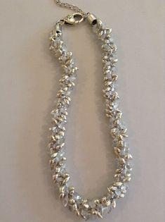 silver & white magatamas  Rebecca Combs