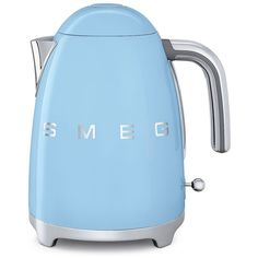 Smeg 7-Cup Kettle found on Polyvore featuring home, kitchen & dining, pastel blue and smeg