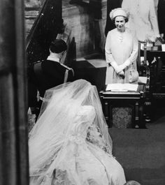 Charles and Diana bow to the Queen