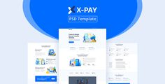 Xpay - Online Money Transfer & Banking PSD Template Banks Website, Grid System, Psd Templates, Photoshop, Money, Silver