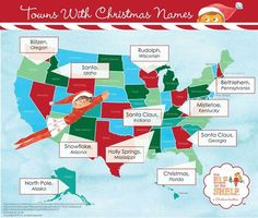 Towns with Christmas names
