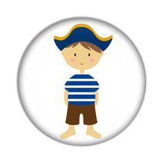 Niño capitan azul (chapa, badge, button, spille)