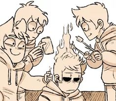 tord with that lighter XD awesome but AGH TOMS EXPRESSION IS P R E C I O U S <3 like he so chill about it 'im used to it idec' XD <3