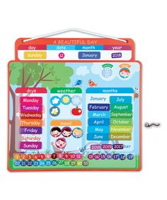 Look what I found on #zulily! Beautiful Day Magnetic Calendar by Janod #zulilyfinds